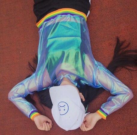Holographic Transparent Rainbow shirt  ... | NEW ARRIVAL
