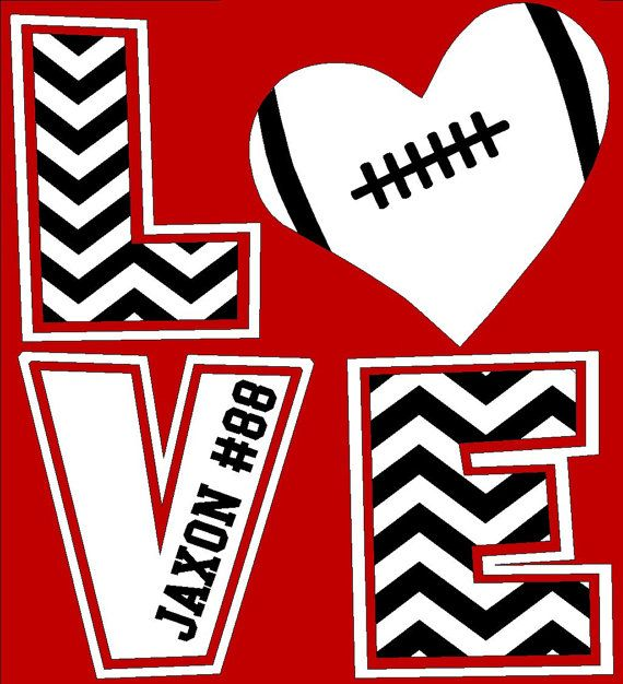 Chevron LOVE T-Shirt, Football mom shirt, Baseball mom, football mom, soccer mom shirt, basketball mom shirt by The Walnut Street House