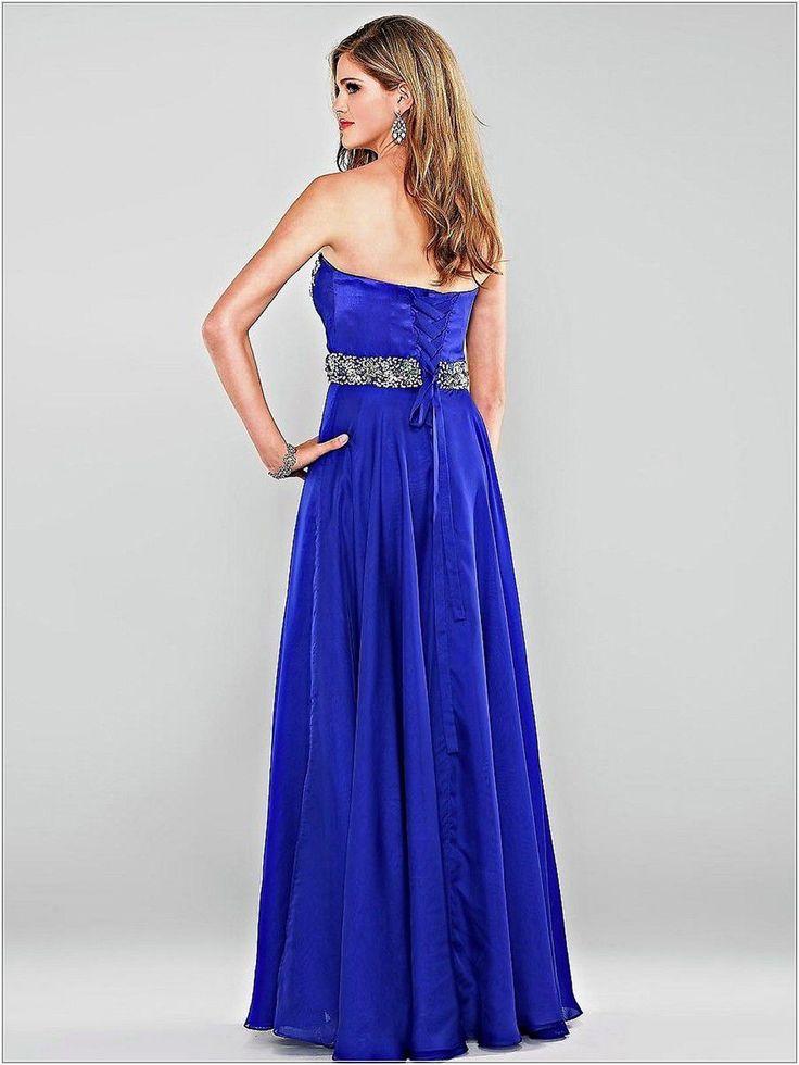 Wedding guest dresses sweetheart royal blue chiffon empire for Wedding dresses with royal blue accents