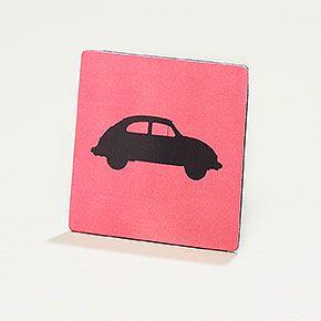 Notizmagnet für Autofans - Magnetkarte mit Notizblock und Bleistift auf der Rückseite