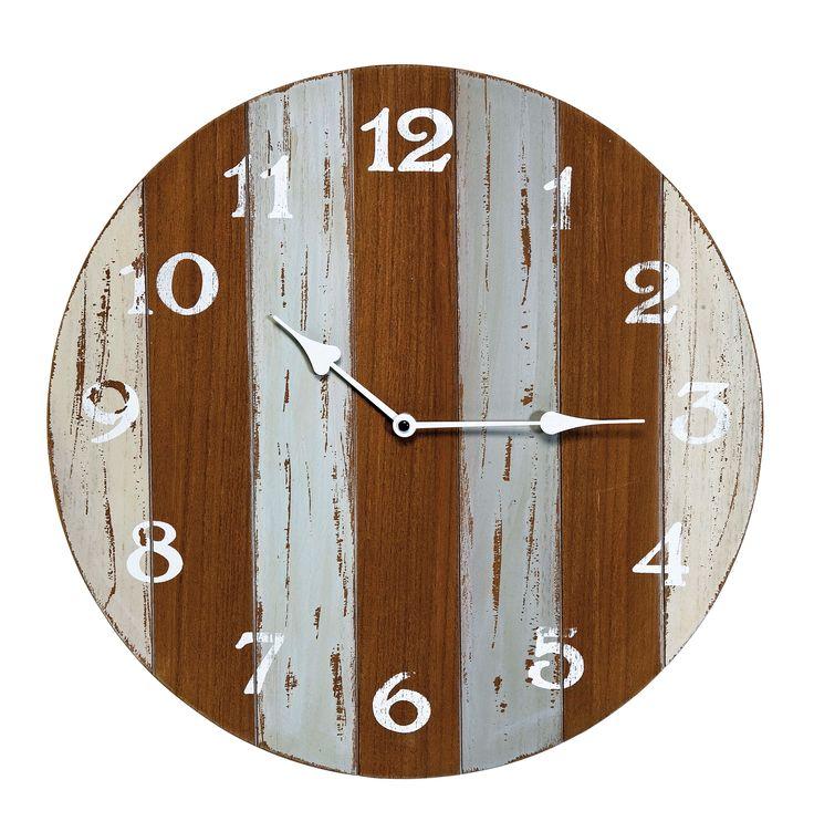 Holen Sie sich mit dieser Uhr ein Stück Paris nach Hause.  Dank ihrer sehr guten Verarbeitung eignet sie sich auch hervorragend als Geschenk.  Die moderne Uhr sieht nicht nur im Wohnzimmer oder auf dem Flur gut aus, sondern überzeugt mit ihrem Aussehen auch im Wintergarten. #uhr #zeit #braun #Küchenuhr #Wanduhr #moebel #moebeltraume #moebelpower #vintage