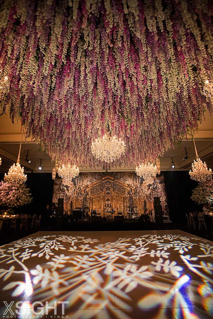 A floral inspired ceiling for Rema & George's Couture Fairytale Wedding in Sydney // Flowers by Vesna Grasso Floral Designer, Planning by Diane Koury Weddings