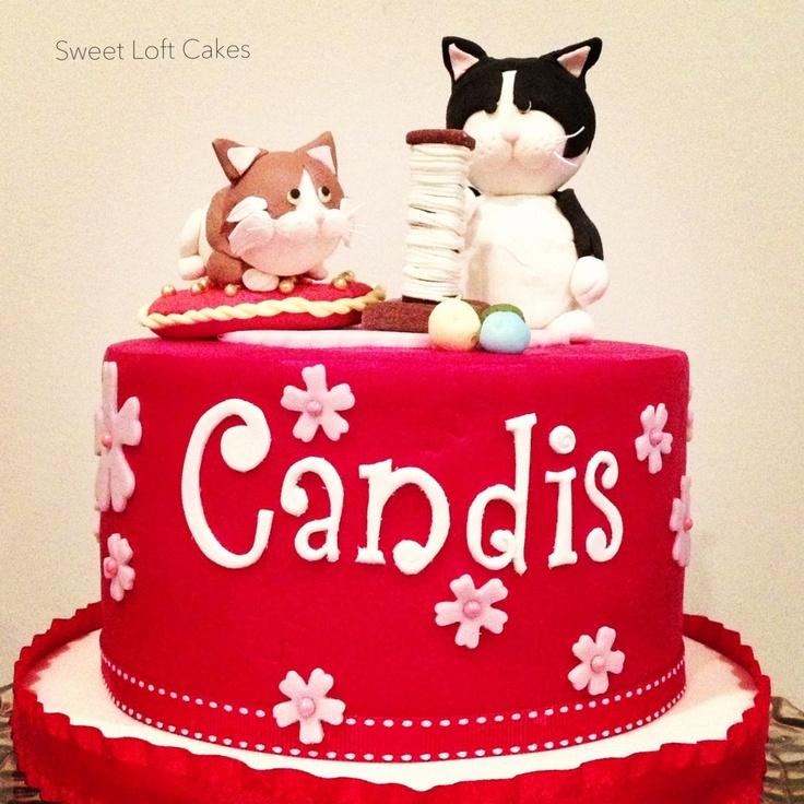 Kitty cat cake pinterest - Housse de coussin 65 65 ...