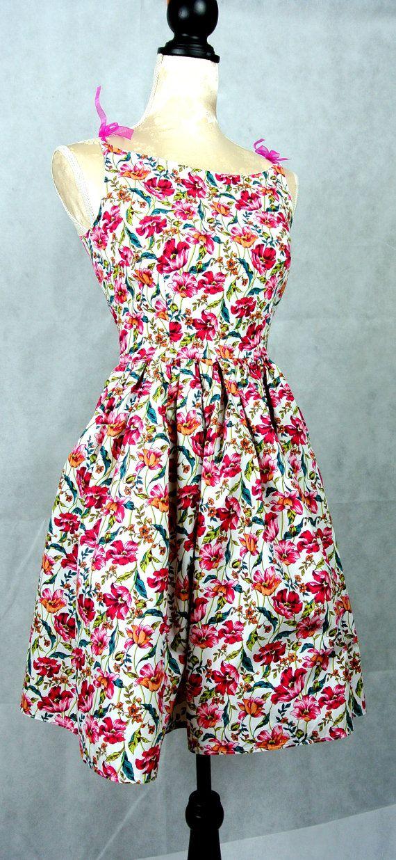 Betty draper sun dress in pink tulip by butterfliesjuliebea