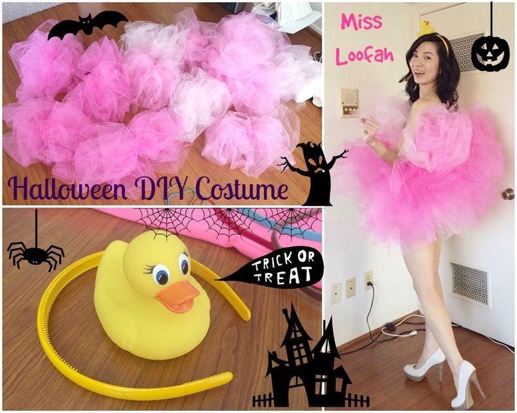 [Look] Halloween DIY Loofah Costume | Crystal