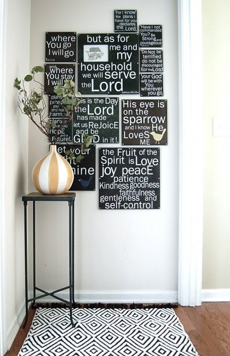 Bible verses decorating wall..I already bought the mini versions from this place=)