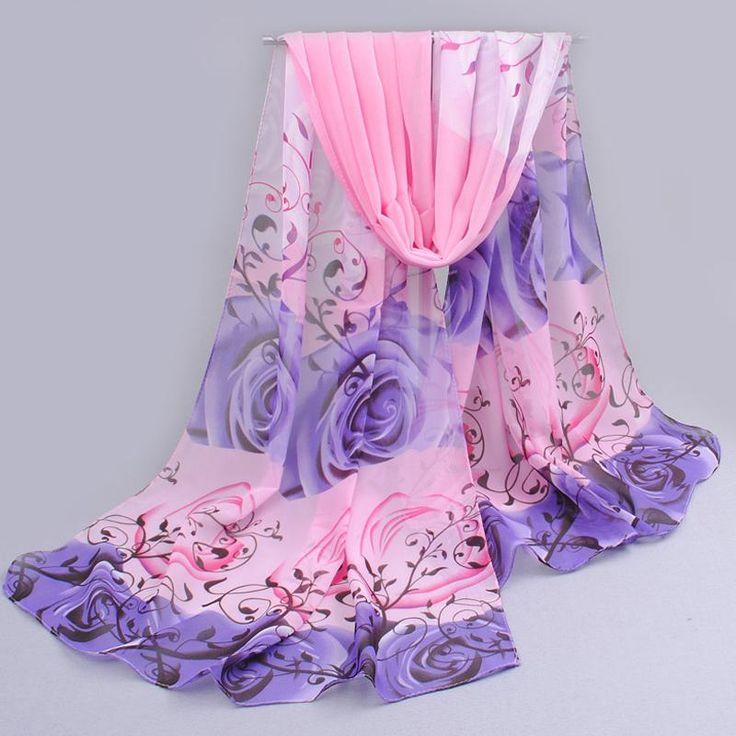 Из индии продвижение 2017 вырос печати шифон шарфы женщина тонкий платок тюрбан пояс оптовая хиджаб моды арабский шарфы wrap ресторанов быстрого обслуживания