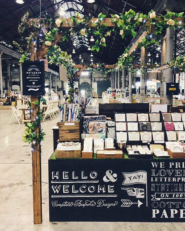 Good morning little market stall! Sydney @finders_keepers is on again 10am - 6pm today at @atpcc  #letterpress #sydneyfinderskeepers #thefinderskeepers #sydney #designmarket