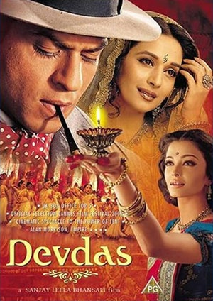 Devdas. (DRAMA/angst). Basically Great Gatsby, Indian style... if Gatsby was a pyromaniac. Alcoholism never looked so beautiful.