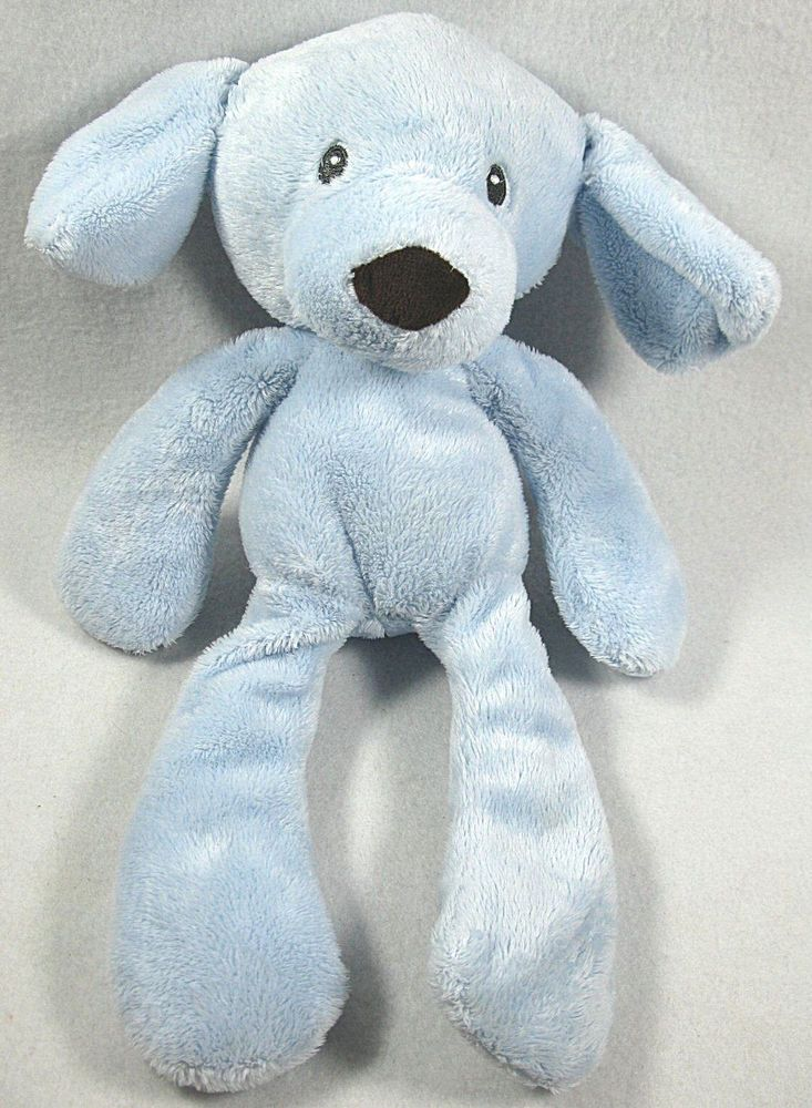 Baby Gund G Take Along Blue Dog Plush Puppy Soft Toy 13 Hard To