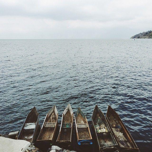 These canoes.  #lakeatitlan #guatemala