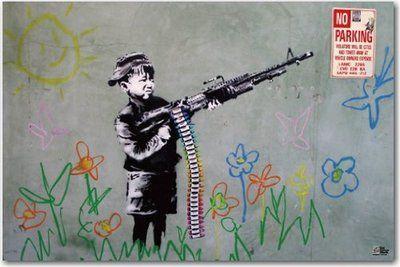 イギリスブリストル出身の謎の覆面アナーキーな芸術家バンクシーBanksyを見ながらブリストルを散策したお話。アートに込められた意味なども交えてご紹介しています。