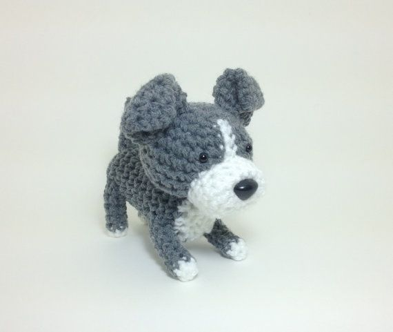 Amigurumi Pit Bull American Stafford Terrier Office by Inugurumi, $32.00
