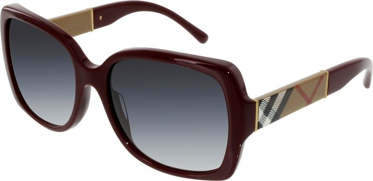 Burberry Womens Gradient  BE4160-34038G-58 Red Square Sunglasses