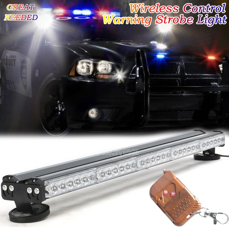 "31"" Wireless Control 12V 24V Emergency Vehicle Strobe Lights Forklift Warning Led Light Pickup Trucks Roof Signal Police Lamp"