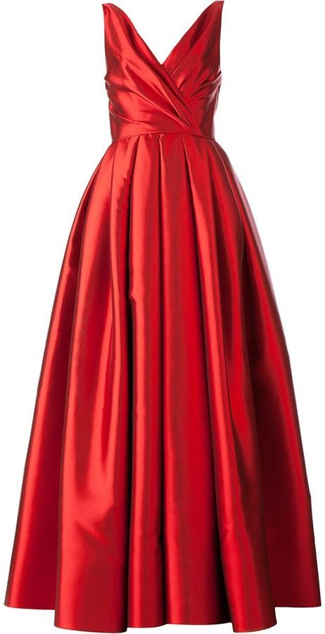 Reem Acra flared evening gown