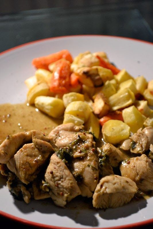 Ancient Roman Dill Chicken from the blog Pass the Garum