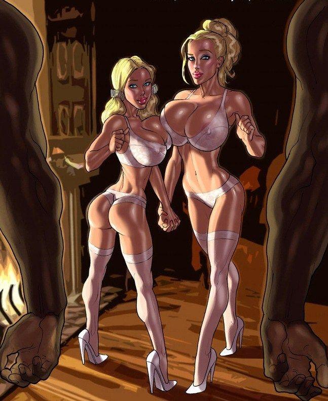 hot girl cartoon sex - Xxx interracial cartoon porn pics of white girl wanna - Picture 4