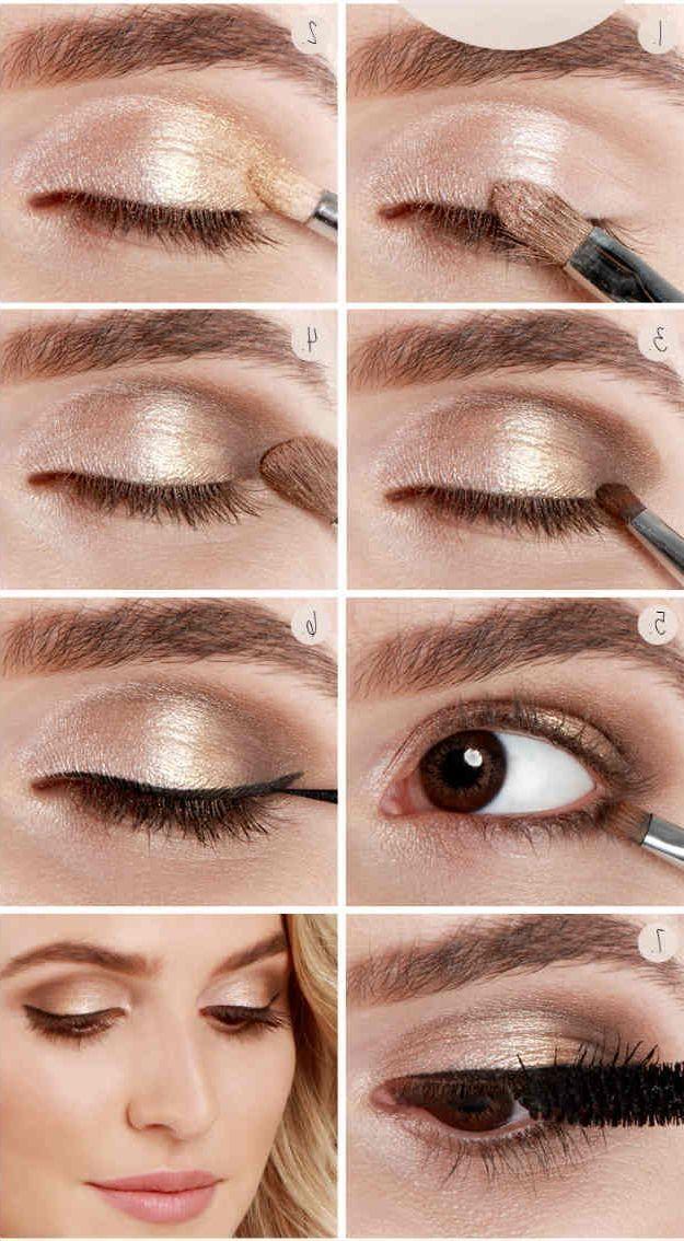 Make up tipps blaue augen braune haare