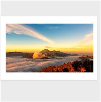 Bromo Yanar Dağı Endonezya Kendin Tasarla - Kanvas Tablo 90x60cm Yatay