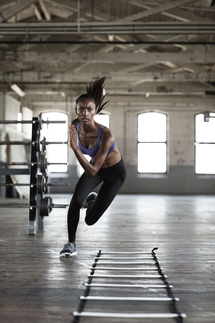 Fancy footwork + maximum support = how to kick your fitness game to the next level. | The Ultimate by Victoria's Secret Cross-Train Sport Bra