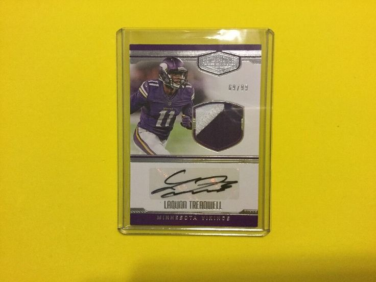 LAQUON TREADWELL 2016 Plates & Patches 2 Color Patch Auto 69/99 #MinnesotaVikings