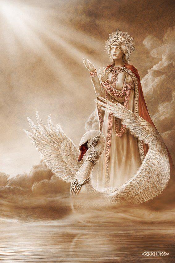 LADA - Slavic mythology by Igor Ozhiganov. Goddess Lada. Lada is the name of a Slavic deity of harmony, merriment, youth, love and beauty.