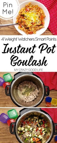 This healthier goulash recipe an easy one pot meal! Instant Pot Goulash is a fast dinner that the whole family will love! 21 Day Fix and Weight Watchers friendly as well!