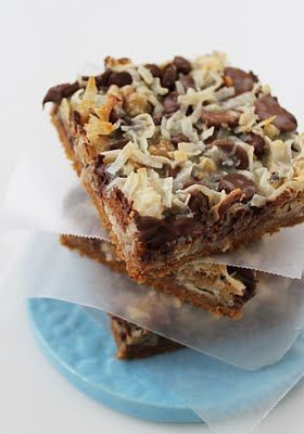 Congo Bars - kind of like Hello Dolly bars, but with a graham cracker base and without marshmallows! yum!