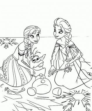 dibujos para colorear de frozen para imprimir para descargar