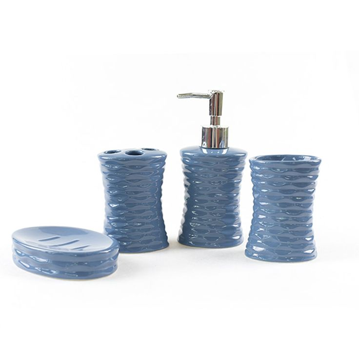 4 Piece Modern Bathroom Accessory Set