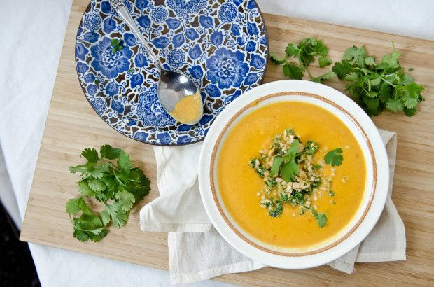 Coconut Carrot Soup with Thai Gremolata - The Fig Tree