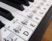 Keyboard / Piano Stickers up to 88 Keys the best way to learn Piano