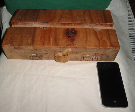 Apple Ipad and Iphone  dock charging station, eco friendly, beech wood, olive oil on Etsy, $79.00