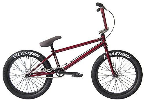 """Eastern Bikes Natural BMX Bicycle, Trans Red, 20""""/One Size"""