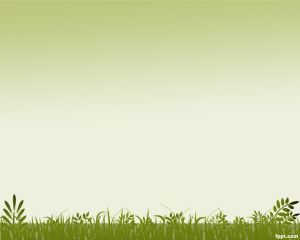 grass background powerpoint template is a ppt template with green
