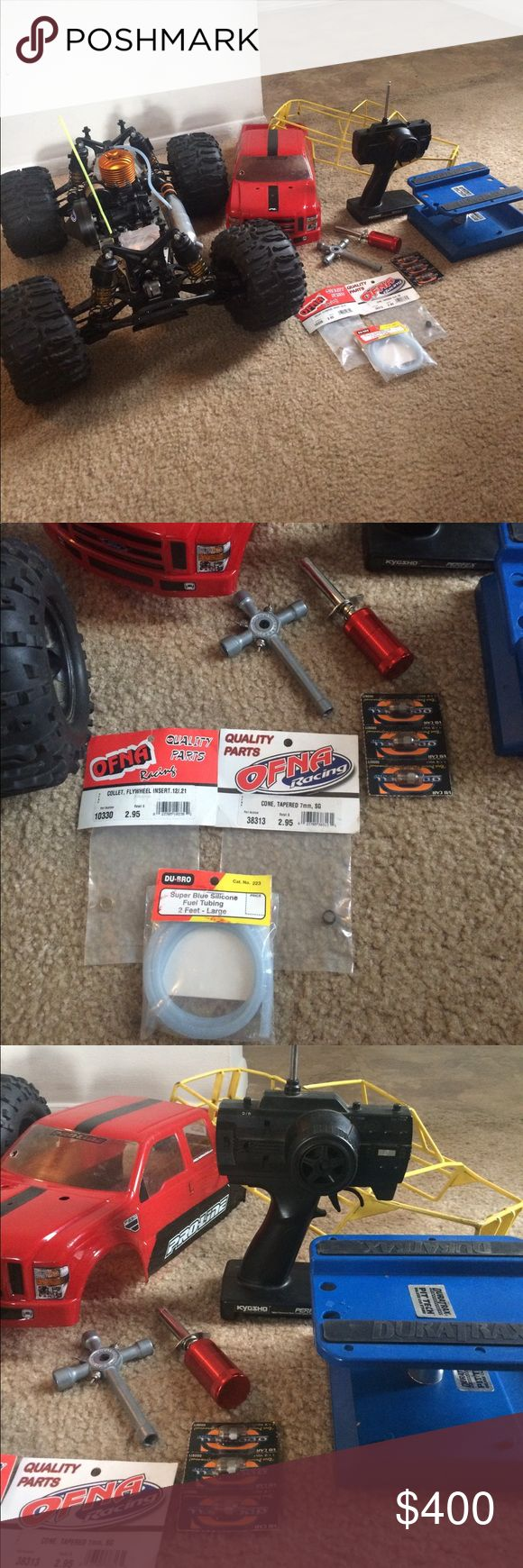 Nitro RC Truck Losi LST truck comes with a roll cage with F250 body along with the X1 mini universal battery charger. OBO Accessories