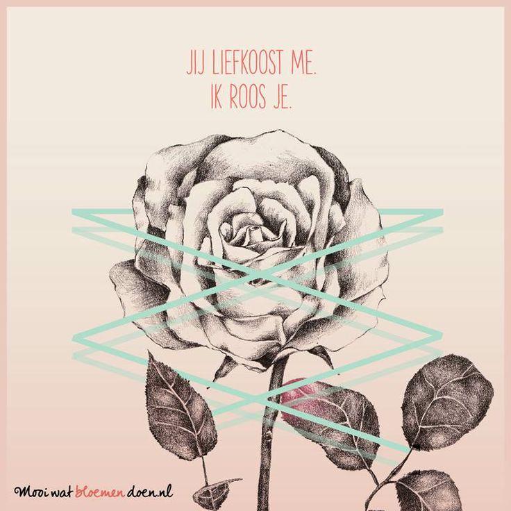 Bloemlezing de roos. Illustratie: Hyshil. Dichter: Kim Triesscheijn. www.mooiwatbloemendoen.nl/bloemlezing-de-roos #bloemlezing #bloemen #roos #rose #ode #flowers #poetry