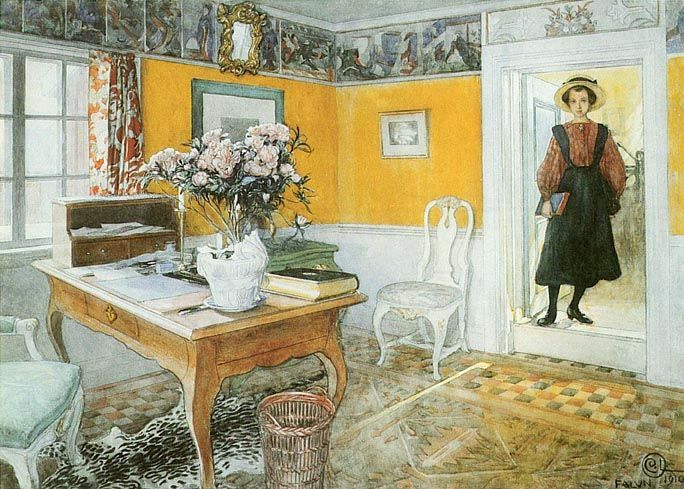 Carl Larsson painting... couldn't find big enough images on the Carl Larsson site, so borrowed from an art printer...