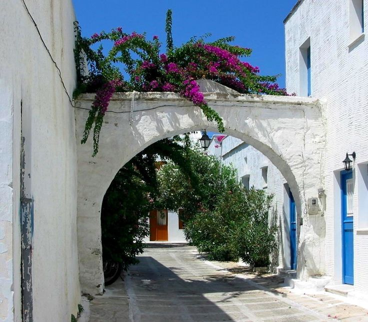Street in Pyrgos village on Tinos Island, Greece