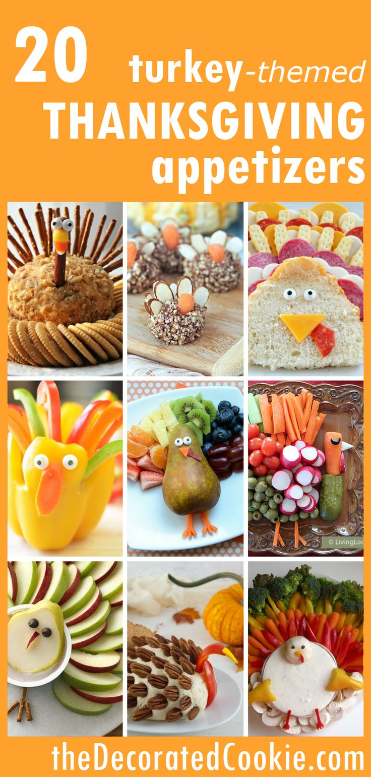 20 turkey-themed APPETIZERS for Thanksgiving roundup