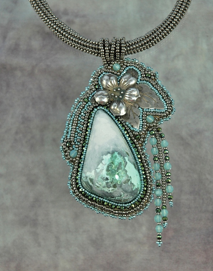 Lost Sierra Turquoise with Vintage Silver. $250.00, via Etsy.