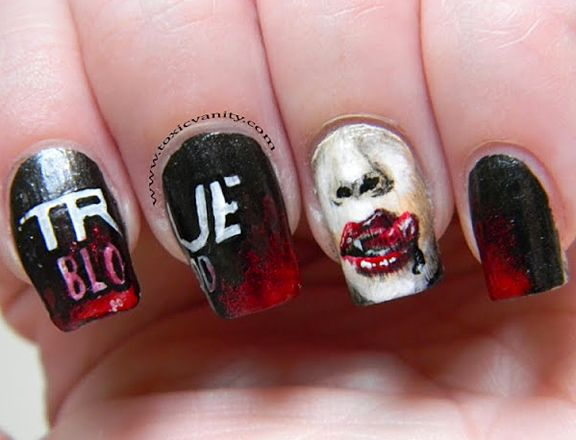Celebrate The Return Of 'True Blood' With This Bloody Good Nail Art - 126 Best Nailed Art. Images On Pinterest Nail Art, Nautical Nail