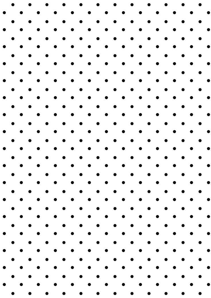 FREE printable polka dot pattern paper | #blackandwhite
