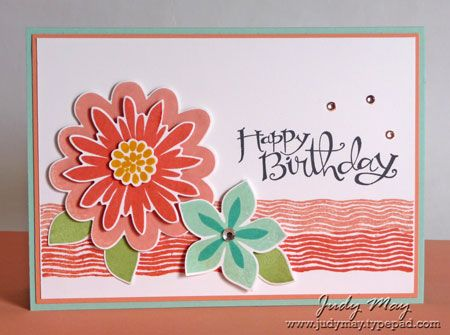 Stampin' Up! ... hand crafted birthday card ... stamped and punched flowers ... lovely ...