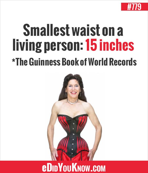 eDidYouKnow.com Smallest waist on a living person: 15 ...