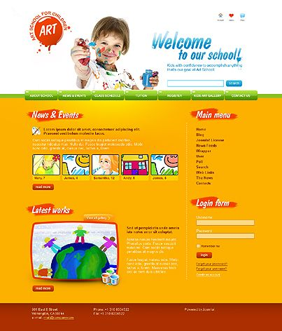 School Art Joomla Templates by Matrix