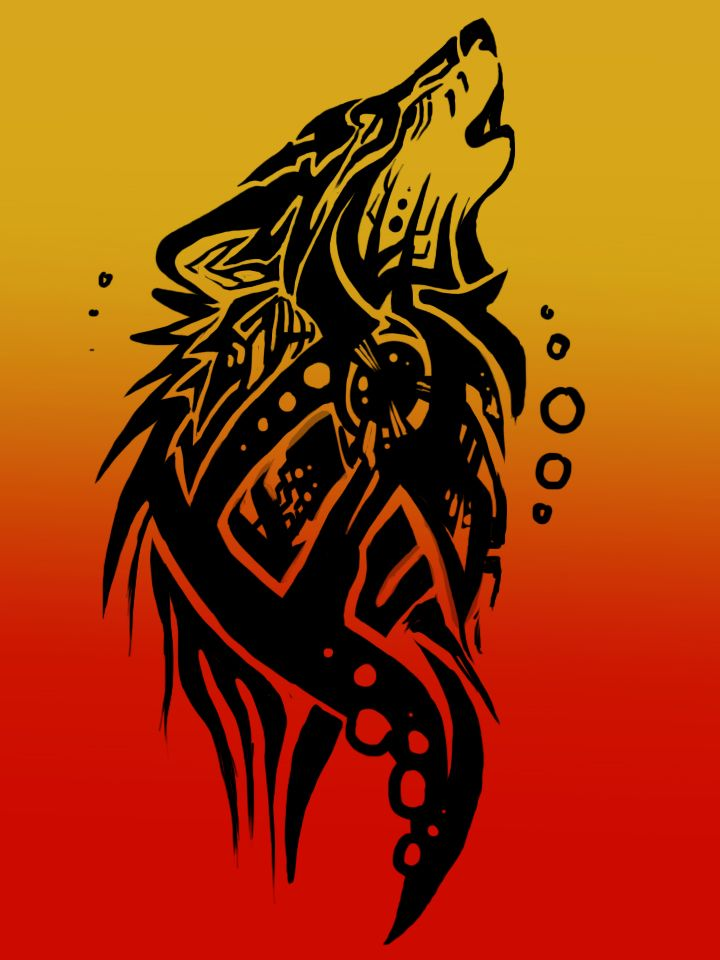 Wolf Tribal Tattoo 2 by Anioue.deviantart.com on @deviantART