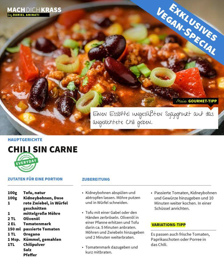 Chili sin carne: Eine Variante mal ohne Fleisch! Lecker!