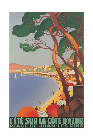 Summer on the Cote D'Azur Art Print at AllPosters.com